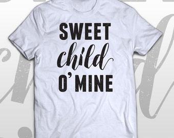Guns N' Roses T-shirt - Sweet child O' mine -  cotton womens tee - cool gift idea