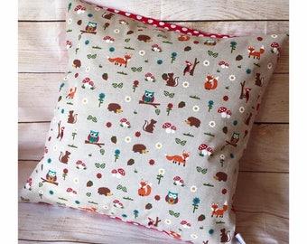 Woodland Cushion, Nursery Decor, woodland Animals, Woodland Nursery