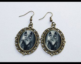 Earrings Frankenweenie Sparky Cameo Earrings