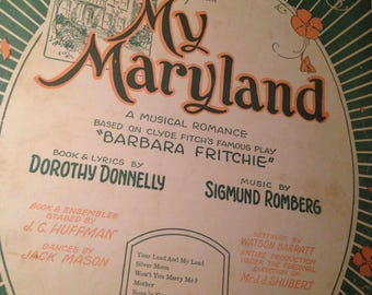 Instant Collection of My Maryland Sheet Music