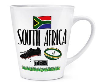 South Africa Rugby 12oz Latte Mug Cup