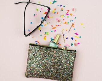 Multi Glitter Party Bridesmaid Clutch, Purse, Make Up Bag Evening Bag, Evening Clutch.
