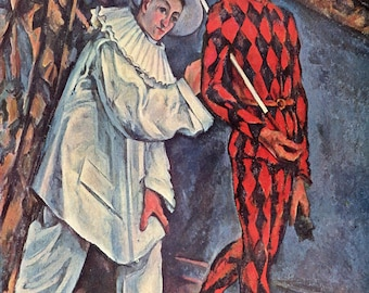 Paul Cezanne: Pierrot and Harlequin. Fine Art Print/Poster (001020)