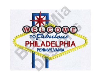 Philadelphia, Pennsylvania - Machine Embroidery Design