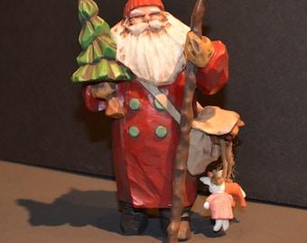 1998 Hallmark Collector's Club Membership Ornament-Making His Way-Santa