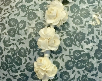 floral, flower headband - pure innocence - ivory roses