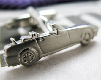 Classic Convertable Cufflinks Car Auto Silver Toned Cars Cuff Links