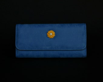 Womens Wallet, Leather Wallet, BlueWallet, Blue Purse, Blue Leather Purse, Blue Leather Wallet.