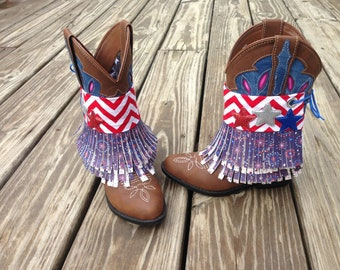 READY TO SHIP!! Patriotic Boot Covers
