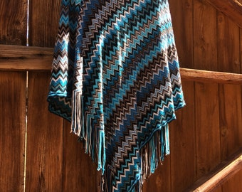 Crocheted Poncho by just be