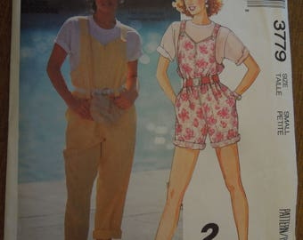 McCalls 3779, size small, misses, jumpsuit, UNCUT sewing pattern, craft supplies