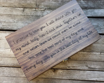 Rustic Wedding Custom Engraved & Personalized Double Wine Box, First Fight Box, Card box, Memory Box for your Wedding Vows