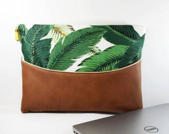 """Cover Macbook - laptop pouch 9 """"10 11"""" or 12 """"13"""" 14 """"15"""" inches Tropical - personalized gift Christmas - gift for woman"""