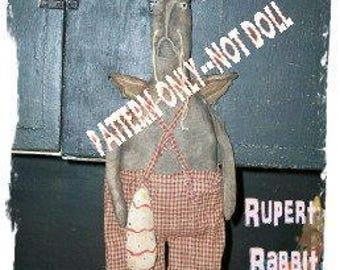 Rabbit epattern-NOT DoLL, 259e BuNNY  Primitive Easter Rupert Angel Crows Roost Prims epattern  immediate download