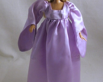Purple Satin dress for Barbie