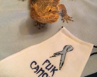 Bearded Dragon Costume - Cape - FUK Cancer