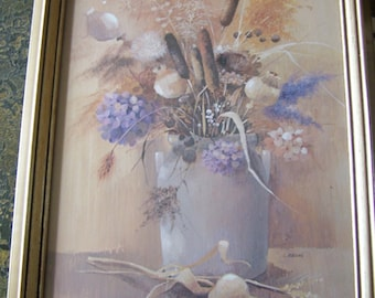 Vintage Floral Print By I. Gaydos