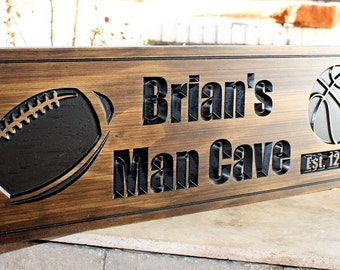 Personalized Nfl Man Cave Signs : Football plaque etsy