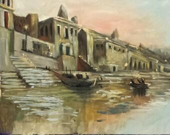 River Landscape Painting