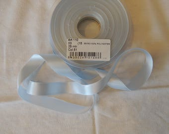 Satin Blue Ribbon clear width 15 mm