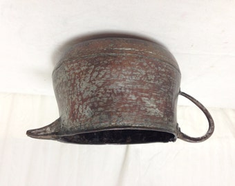 Copper & Zinc pot,Hand Forged, Vintage, Antique, Pouring Pot