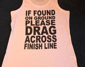 If found - runners tank top