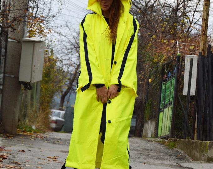 Extravagant Neon Jacket, Casual Jacket, Fashion Style, Oversize Coat, Waterproof Jacket, Sports Jacket by SSDfashion