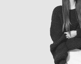 Chunky knit oversized loose sweater/ oversized knit womens sweater/ coat women Clothing/ long coat/ oversized sweater/ SALE/ Slouchy sweater