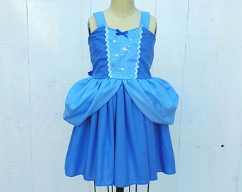 Cinderella dress, vacation princess dress, Cinderella Birthday Party, Toddler Cinderella Dress, Princess Dress for Disney parks summer dress