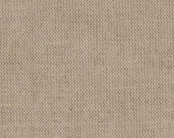 Natural Linen fabric 28 long by 60 inches wide Even weave of white and tan Apprx. Balanced weave Needlework Natural pillows