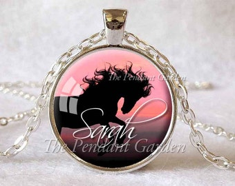 PERSONALIZED HORSE PENDANT Custom Horse Necklace Personalized Necklace Horse Jewelry Horse Lover Gift for Horse Lover Equestrian Jewelry