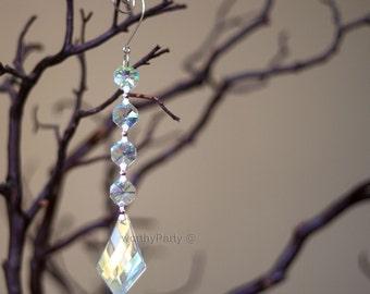 Diamond Crystal Hanging Ornament Acrylic Drop Wedding Decorations - Centerpiece - Chandelier Parts ( 1 piece per pack )