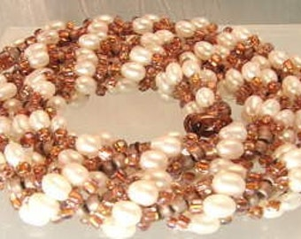 ON SALE 50% OFF Gorgeous Pearl Necklace, Bracelet and earring set unique collection................wo52