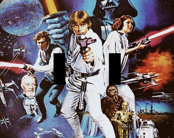 Star Wars A New Hope Movie Poster Double Light Switch Plate Cover