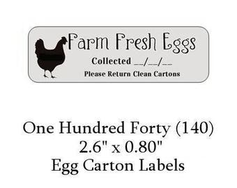 140 Gray or Green or Purple Egg Carton  Labels - You choose your color!