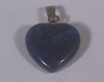 14mm sodalite gemstone heart pendant