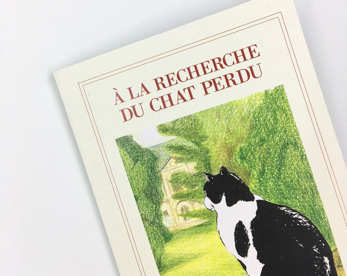 À la Recherche du chat perdu - A6 notebook - recycled dotted pages