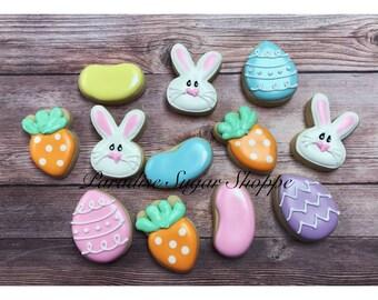 Easter Bunny Jellybean MINI cookies - 3 Dozen MINIS