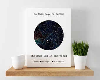 Star Map Fathers Day Gift from Daughter CUSTOM STAR MAP, Night Sky Print, Father's Day Gift, Gift for Him, Star Print, Unique Gift, Wedd 15