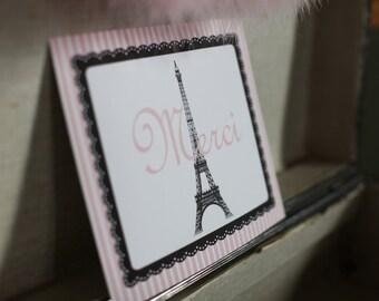 Merci Oooh La La Paris France Party Sign