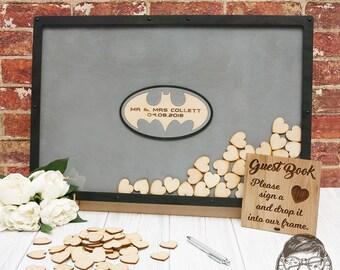 Batman Wedding Guest Drop Box Frame