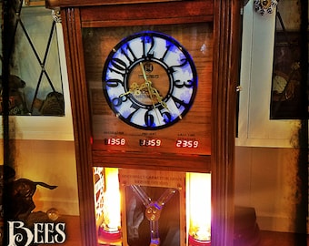 Steampunk Clock Lamp - Industrial - Flux Capacitor - Unique - Time Machine - Light