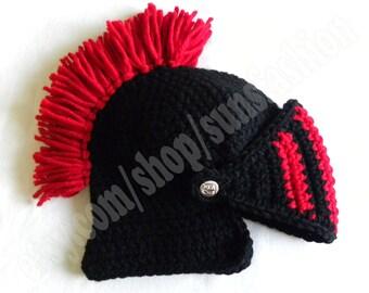 knight helmet crochet beanie hat original red black warm knitted cap knight hats mens awesome snowboard ski men kid women unisex hat