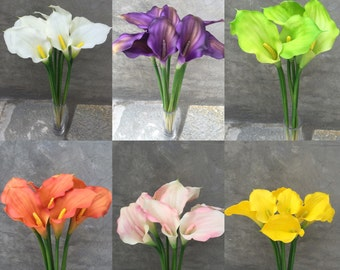 "Calla Lily Flowers, Faux flowers, Artificial flowers , Wedding Flowers, Home decoration  - 18"" Tall"
