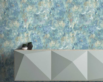 Rumpus in Ocean by Barry Spence, textured wallpaper, paste the wall, 10meter roll, painted wall, feature wallpaper, blue/green wallpaper
