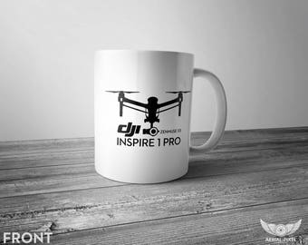 DJI Inspire 1 Pro - 11oz Coffee Mug for Aerial Photographers and Drone Pilots