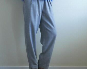 Grey Wool High Waist Tapered Pants Liz Claiborne