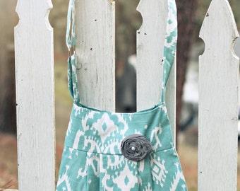 Bohemian Style Purse, Bohemain Handbag, Light Blue Tribal Hipster Handbag, Hipster Hobo Purse, Hipster Handbag, Cute Purse, Handmade