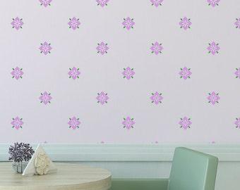 Flower Stencil Pattern Zuri Reusable allover stencils better than Wallpaer Decals