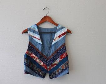 Vintage reversalable Fabric vest